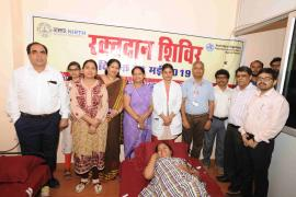 Many Scientists and Staff volunteers of ICMR-NIRTH took part in the blood donation.