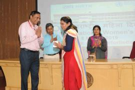 Women's Day was celebrated with zeal on 8th March, 2019 at ICMR-National Institute of Research in Tribal Health (ICMR-NIRTH), Jabalpur