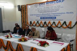 Workshop at ICMR-RMRC, Gorakhpur.