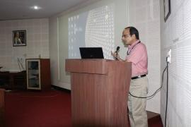 Dr. Samiran Panda, Director ICMR-NARI addressing NARI staff on the occasion of Swachata Pakhvada