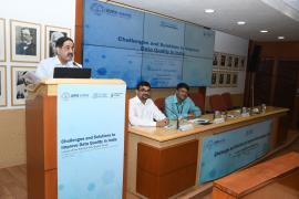 Prof. Balram Bhargava, Secretary DHR and DG ICMR addressing the gathering on the occasion of National Data Quality Forum (NDQF) launch