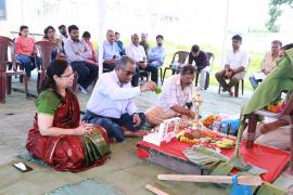 Bhumi Poojan Ceremony for the proposed Centre for Research Management and Control of Hemoglobinopathies at Chandrapur, Maharashtra. under ICMR-NIIH, Mumbai