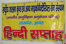 Banner of Hindi Diwas of our Institute