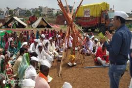 Community Based Swachh Bharat Abhiyan activity organized ICMR-NARI for creating awareness among the warkaris(Pilgrims taking pilgrimage to pandharpur by 21 day long walking)on 24th June 2019.