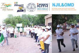 Fit India Freedom Run 2.0 to Commemorate '75' Azadi Ka Amrit Mahotsava at ICMR-NJIL& OMD
