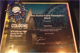 HTAi2019 annual meeting Award ceremony in Cologne, Germany