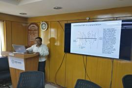 Dr.Damodar Sahu Scientist F, ICMR-NIMS delivering a lecture on Multivariable multilevel analysis, Day 3