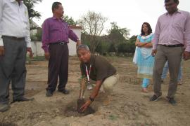 Dr. Aparup Das, Scientist 'G' & Director, ICMR-NIRTH takes part in plantation drive