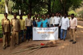 09.04.2018 - Swachh Bharat Abhiyaan organized at Damodar Galande Patil Garden, Vadgaonsheri, Pune