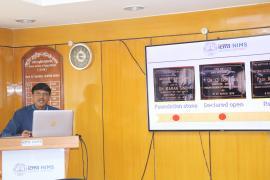 Welcome address and overview of Institute Director Dr. M Vishnu V. Rao