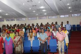 ICMR-NARI staff taking swachhta Pledge.