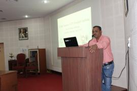 Dr. Suchit Kamble, Scientist E  briefing various activities planned on the occasion of Swachata Pakhwada.