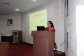 Mrs. Radhika Brahme, Scientist ''C'' delivering a talk on Retention of Records