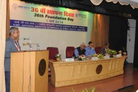 Delegates shares his views on 6th Foundation Day, ICMR-NIRTH, Jabalpur