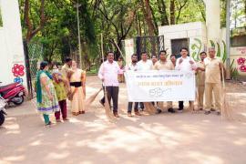 03.04.2018 - Swachh Bharat Abhiyaan organized at Joggers Park Bund Garden, Yerawada, Pune