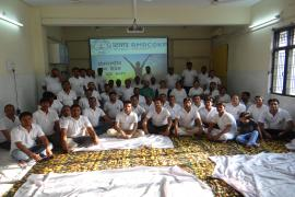 ICMR-RMRC, Gorakhpur staff celebrate International Day of yoga with full zeal and enthusiasm.