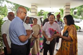 Dr. Harsh Vardhan, Hon'ble Minister for Health & Family Welfare, S&T and Earth Sciences had visited ICMR-NIN