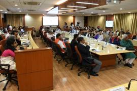 "Delegates attend Symposium on ""Gandhi & Health@150b at ICMR Hqrs., New Delhi"