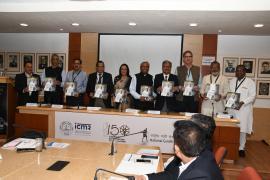 "Dignitaries present in Symposium on ""Gandhi & Health@150b at ICMR Hqrs., New Delhi"