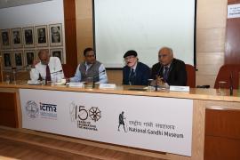 "Delegates address in Symposium on ""Gandhi & Health@150 at ICMR Hqrs., New Delhi"