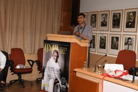 "Makarand Paranjape, Director, IIAS Shimla addresses in Symposium on ""Gandhi & Health@150 at ICMR Hqrs., New Delhi"