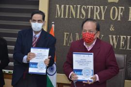 Hon'ble Union Minister Dr Harsh Vardhan, MoHFW, GOI released Report on National NCD Monitoring Survey and Framework for Telemedicine use in Management of Cancer, Diabetes, CardiovascularDiseases and Stroke during 10th foundation day of ICMR-NCDIR 25.01.21