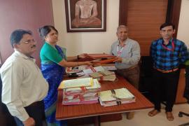 Delegates exchanging MOAs for establishment of Model Rural Health Research Unit