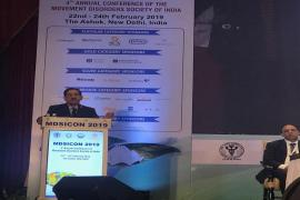 Prof. Balram Bhargava, DG, ICMR addresses in 4th annual conference of Movement Disorders Society of India in New Delhi