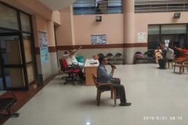 Yoga instructor in NIRT, Chennai on the occasion of International Day of Yoga