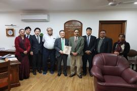 Deputy Minister of Education, Culture, Sports, Science and Technology Government of Japan Mr. Yoshio Yamawaki meets Dr. Balram Bhargava, DG, ICMR and other delegates at ICMR Hqrs, New Delhi.