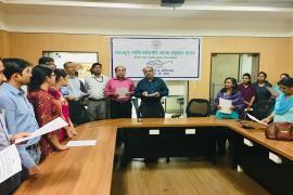 Delegates take oath in Swachhta Pakhwada organised in NIREH, Bhopal