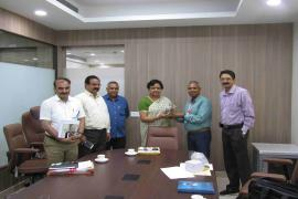 Dr. Aparup Das, Scientist 'G' & Director, ICMR-NIRTH Jabalpur attended a meeting with Smt.ShikhaDubey, Addl.Chief Secy, AYUSH