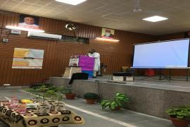 Sh. Annamali, Director, National Gandhi Museum giving a talk on Gandhian virtues
