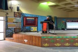 Sh. Ansar Ali, Curator, National Gandhi Museum, giving a talk on Gandhi