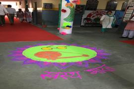 Welcome message of Sawasth Bharat wonderfully portrayed by school kids