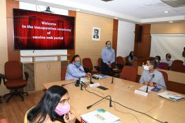 Dr. Harsh Vardhan, Hon'ble Union MOHFW, GOI launched the vaccine portal for COVID-19
