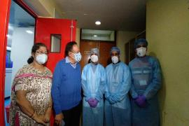 He interacted with the Director,  Dr Shanta Dutta and other Scientists of the Institute