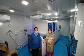 He saw COVID-19 testing facility Cobas 8800 at the Institute.